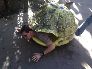 George as a turtle